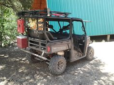 POLARIS RANGER XP 900 CAGE EXTENSION WITH FULL TAILGATE AND SAFARI RACK. call 801-865-7647 for pricing or information