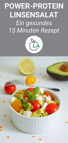 Vegetarischer Linsensalat mit Mozzarella – Gesundes Rezept Simply make lentil salad yourself? This red lentil salad is healthy, vegetarian and quick to make. Salad Recipes Healthy Lunch, Healthy Recipes For Diabetics, Salad Recipes For Dinner, Healthy Gluten Free Recipes, Chicken Salad Recipes, Heart Healthy Recipes, Juice Recipes, Red Lentil Salad, Healthy Protein