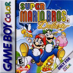 Super Mario Bros Deluxe original Nintendo Game Boy Color cartridge on sale All DK's classic used games are cleaned, tested and guaranteed to work available for sale. Game Boy, Super Mario Bros, Super Mario Brothers, Gameboy Games, Nintendo Games, Super Nintendo, Nintendo 64, Arcade Games, Yoshi