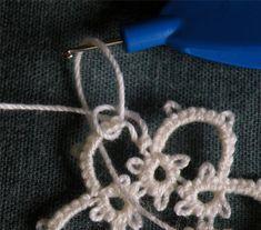 How to tat a split chain · Needlework News | CraftGossip.com