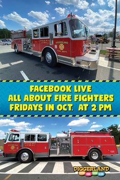 🚒 WIN FOUR TICKETS TO DIGGERLAND USA! In observation of Fire Prevention week (Oct. 4-10), we are offering one lucky family a free four pack of tickets.  1. Head over to our Facebook page at: www.facebook.com/diggerlandusa 2. SHARE THIS POST on Facebook 3. Draw your home escape plan 4. Take a photo of it 5. Comment it on our Facebook post and TAG a friend Tune into our Facebook LIVE special all about fire safety and the gear firefighters use every Friday afternoon at 2 p.m. in the month of… Fire Prevention Week, West Berlin, Escape Plan, Fire Safety, Fire Dept, Firefighters, How To Take Photos, Special Events, Friday