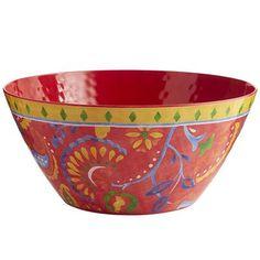 Carnival Brights Melamine Serving Bowl