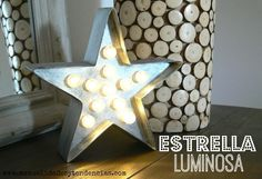 estrella luminosa navideña www.manualidadesytendencias.com #Navidad #Christmas #Noël #regalo #cadeau #present #gift #estrella #étoile #star #manualidades #diy #craft #loisirscréatifs