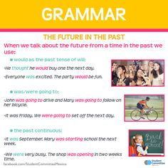 Grammar: Talking about the future in the past.