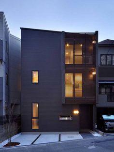 6th studio / 一級建築士事務所 スタジオロク の モダンな 家 外観(正面/夕景)