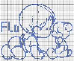 "ru / Olgakam - album ""circuits rares et belles Crochet Chart, Easy Crochet Patterns, Loom Patterns, Filet Crochet, Cross Stitch Baby, Cross Stitch Charts, Bordado Popular, Baby Motiv, Cross Stitch Silhouette"