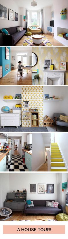 A tour of our colourful, retro modern home - Tigerlilly Quinn