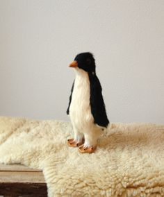 Vintage Penguin  Mid Century Fur Penguin by solsticehome at Maven Collective ( if your near Portland ) and Etsy, $75.00