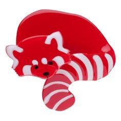Erstwilder Radbert the Red Panda Brooch on Velvet Rose's Pin Up Dressing Room - The vintage shop tailored to you Tailor Shop, Pin Up Dresses, Red Panda, Resin Jewelry, Jewellery, Wholesale Fashion, Dressing Room, Vintage Shops, Whimsical