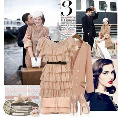 """Romance"" style collage featuring just the right amount of vintage touches."