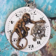 #Jewelry can be #steampunk and #assemblage or #mixed media too this from ClockworkZero on @Etsy!
