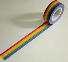 Japanese Washi Masking Tape Roll Rainbow Stripes by CollectingLife
