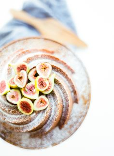 Honey almond cake with fresh figs: http://www.stylemepretty.com/living/2015/09/15/honey-almond-bundt-cake/   Recipe: Lauren Kelp - http://laurenkelp.com/