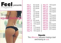 31-day squad challenge #workout #sport