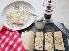 Veganes Rezept, Fischersatz. (c)Beatrice Jungmann Feta, Dairy, Cheese, Fish, Recipes