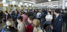 Vuelven las colas a El Prat en la antesala a la huelga de seguridad
