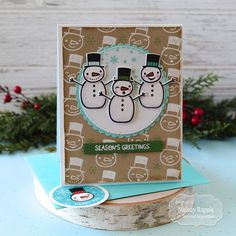 A Paper Melody: Let's Celebrate Christmas in July! Christmas In July, Celebrating Christmas, Snowman Faces, Colored Envelopes, Build A Snowman, Custom Envelopes, July Crafts, Lets Celebrate, Custom Labels
