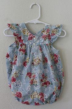 I hope she's always wearing stuff like this. :)  vintage flower baby girl romper