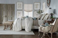 My decorating style according to Ethan Allen is Romantic:-)  Here is a bedroom that falls into that category and I have one thing to say: LOVE!!!!