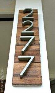 house numbers on wood <3 Barn wood & maybe horizontal