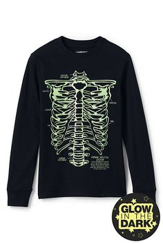 Boys Glow in the Dark Graphic Tee from Lands' End