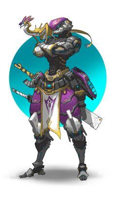 collector by mole wang on ArtStation. Fantasy Character Design, Character Design Inspiration, Character Concept, Character Art, Robot Concept Art, Armor Concept, Arte Robot, Sci Fi Armor, Cyberpunk Art
