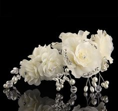 Exquisite Wedding Bridal Rhinestone and Pearl by PrettySquareUSA