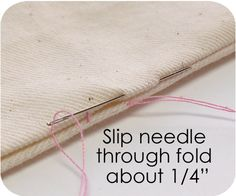 The right way to slip stitch a seam after turning a project (step here I never heard of before, I'm going to have to try this!)  ********************************************   Keyka - #sewing #tips #crafts - tå√
