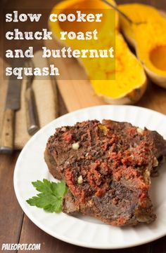 Savory Slow Cooker Chuck Roast & Butternut Squash Combo Meal