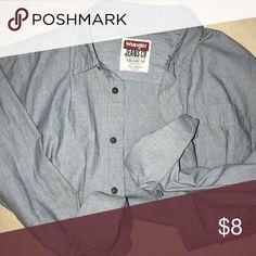 Boyfriend style button down shirt Cute pinstriped boyfriend shirt. Good shape. Tops Button Down Shirts