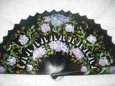 hand painted  spanish fan FREE SHIPPING by txiquisan on Etsy, $35.00