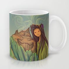 Volcano+Love+Mug+by+Karen+Hallion+Illustrations+-+$15.00