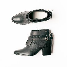 Black Vachetta mid heel chelsea boots from Freda Salvador made with calf leather