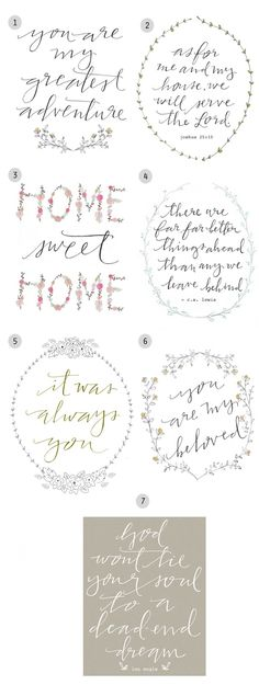 Love these prints from Inspired By Lovely. :)