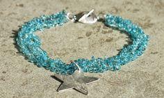 Stella Maris   Choker with apatite drops, made by hand silver pendant and closure  http://www.mimietoile.it/en/shop/stella-maris/