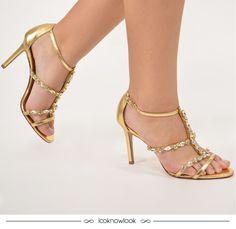 d5db69a6fa Aquela sandália perfeita para brilhar muito na próxima festa!  moda  look   calçados