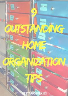 9 Outstanding Home Organization Tips. Household Organization, Home Organization Hacks, Getting Organized At Home, Home Management, Home Free, Parenting, Neon Signs, Education, Tips
