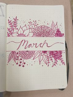 Bullet Journal, Monthly Cover