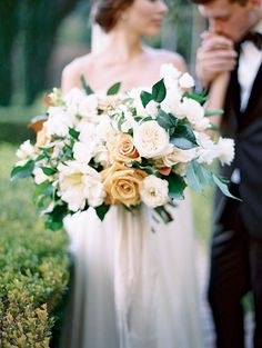 Caramel and Ivory California Fall Wedding