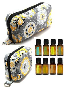 Love these adorable essential oil bags!  They're handmade and come in several different materials.  Larger one holds ten 5ml & 10ml bottles.  Small one holds six.