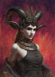 Kai Fine Art is an art website, shows painting and illustration works all over the world. Fantasy Women, Dark Fantasy, Fantasy Girl, Character Portraits, Character Art, Geniale Tattoos, Fantasy Races, Angels And Demons, Fantasy Artwork