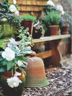 So beautiful ~ love the pottery cloche
