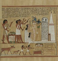 Book of the Dead: A depiction of the Opening of the Mouth ritual
