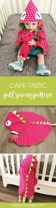 Too cute! Cape-tastic pdf sewing pattern. Beginner child's & adults animal cape pattern.