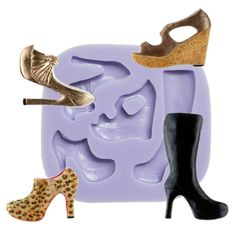 High Heel Shoes Silicone Mold #ShoesSiliconeMold #HighHeelSiliconeMold