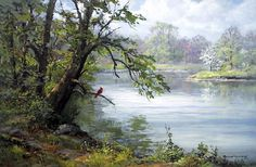 I can almost hear the cardinal singing. Love this painting.