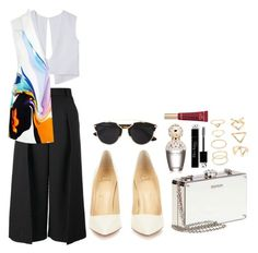 """""""mystery"""" by viennaelgiva on Polyvore featuring Christian Louboutin, Miu Miu, Forever 21, Marc Jacobs, Christian Dior, Too Faced Cosmetics, Erdem, Josh Goot, women's clothing and women"""