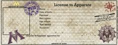 License to Apparate (blank) 2