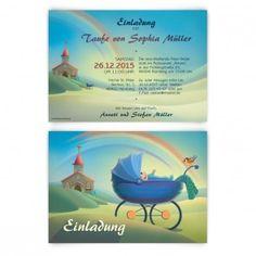 quadratische einladungskarten zur taufe oder namensweihe, Einladung