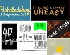 50 free hand made doodle fonts